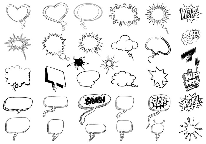Sketchy Thought Bubble Brush Pack
