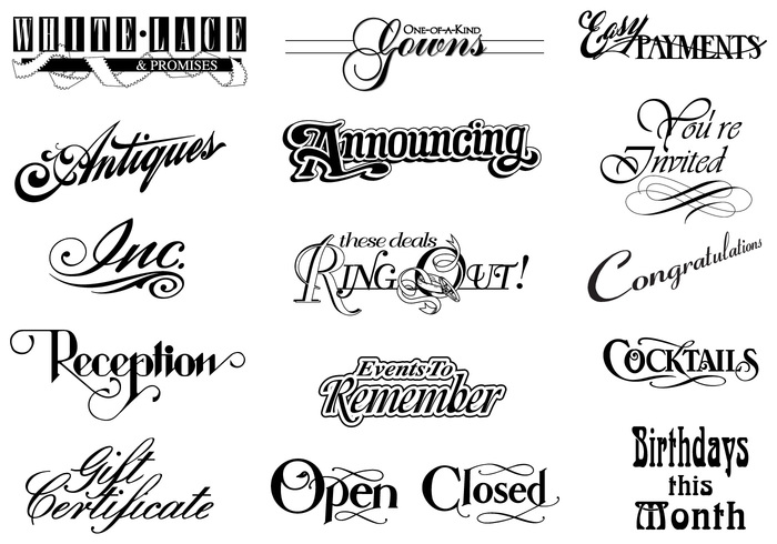Download Vintage Typographic Brush Elements Pack - Free Photoshop ...