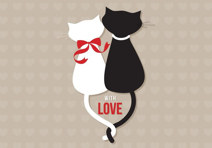 Cats in Love Wallpaper for Photoshop