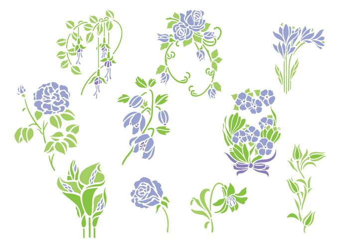 Violet Flowers Brushes Pack