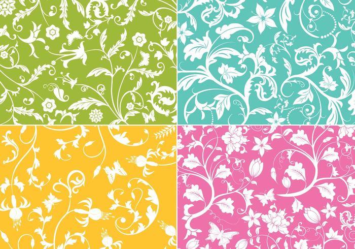 Floral Swirls Wallpaper Pack