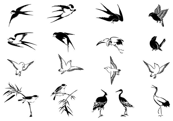 Flying Bird Brushes Pack