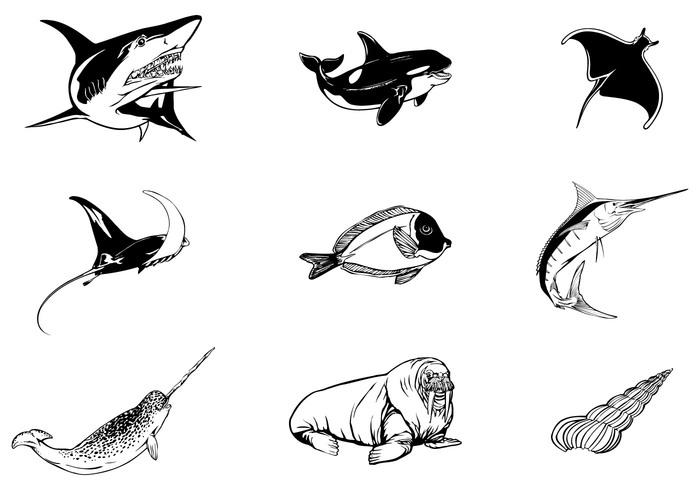 Sea Animal Brushes Pack