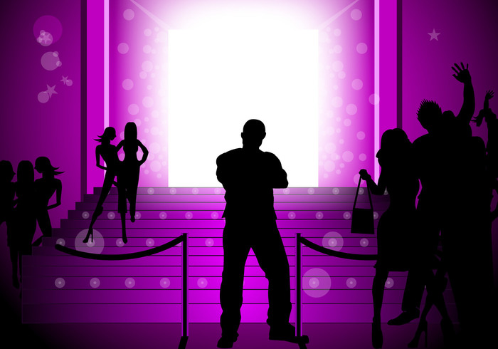 Glowing Purple Party Background