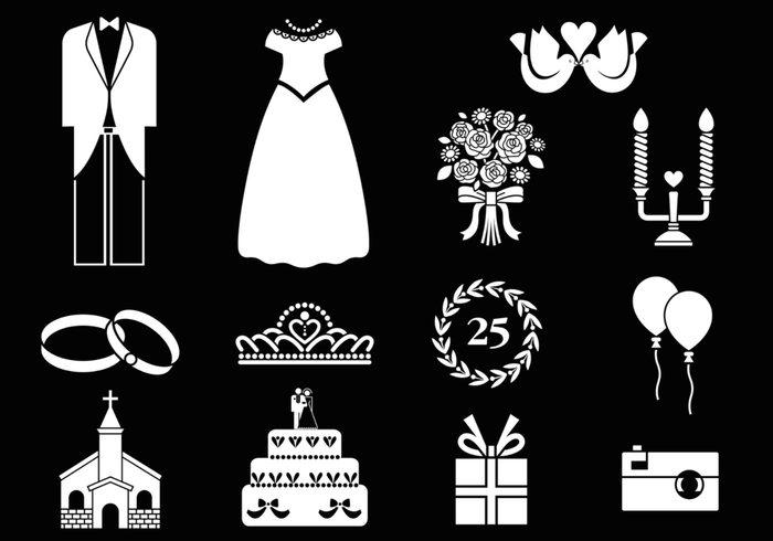 Black and White Wedding Brushes Pack