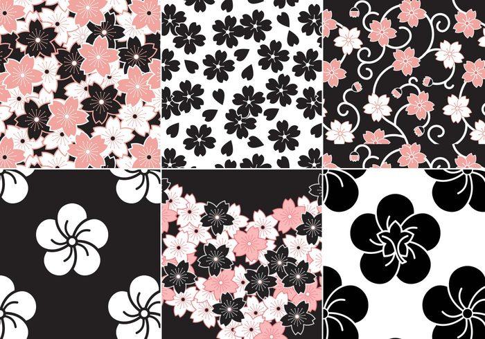 Sakura Flower Pattern Pack