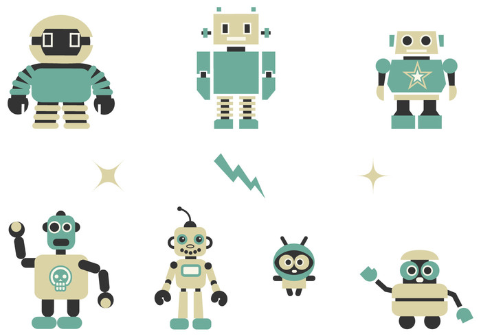 Quirky Robots Brushes Pack