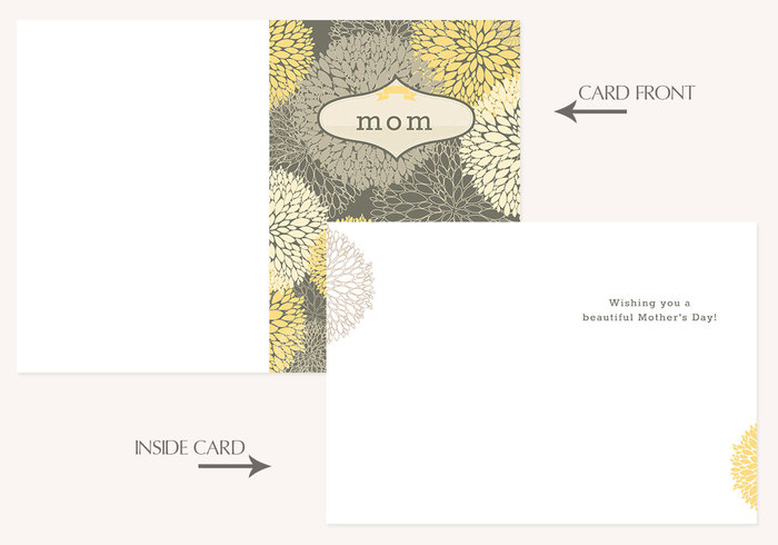 Floral Mother's Day Card PSD Template