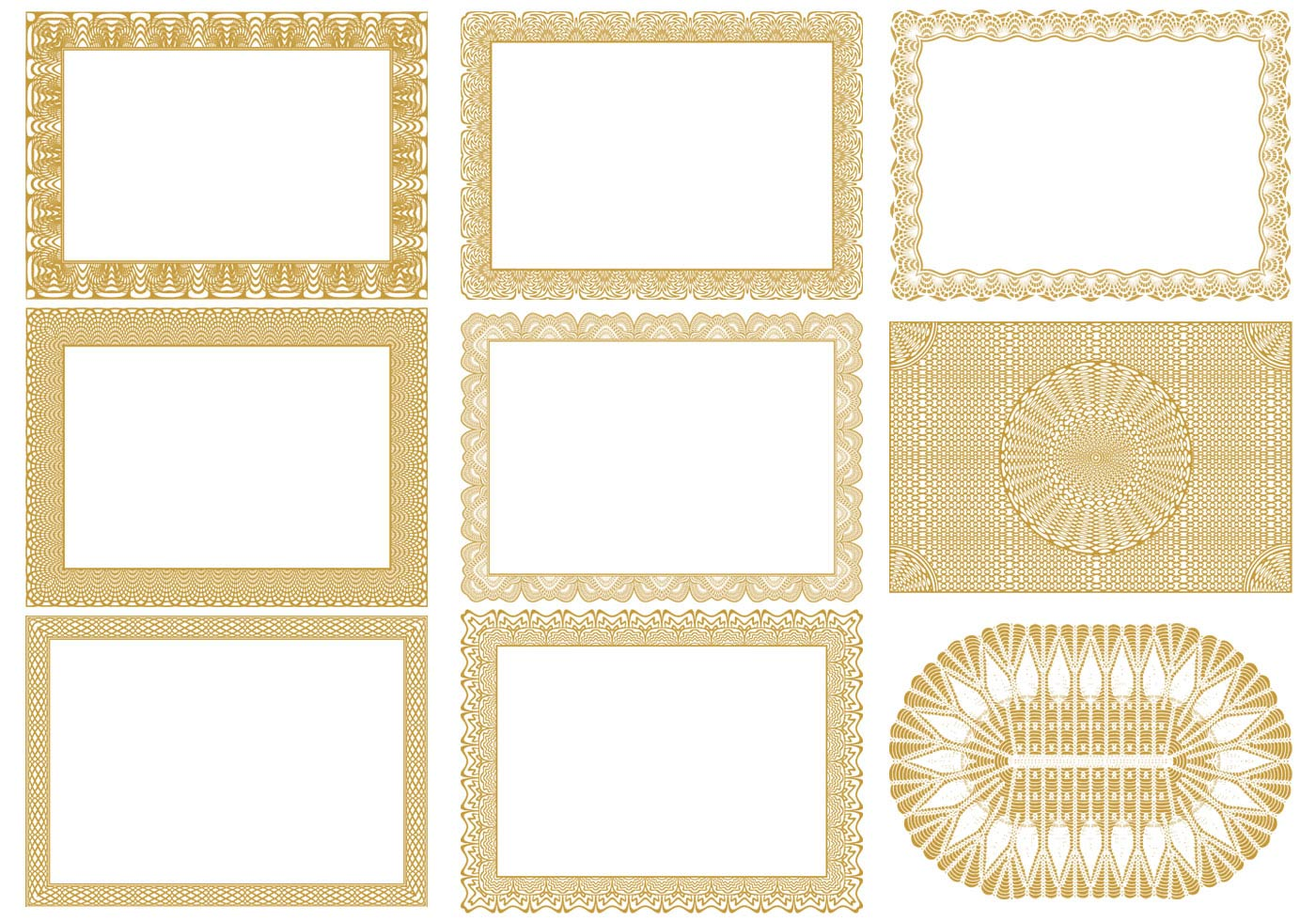Certificate gold border design clipart best borders template certificate border vector yelopaper Image collections