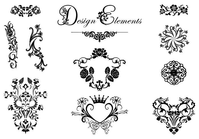 floral design ornament brush pack