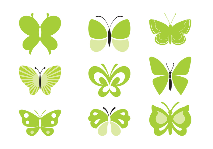Green Butterfly Brushes Pack