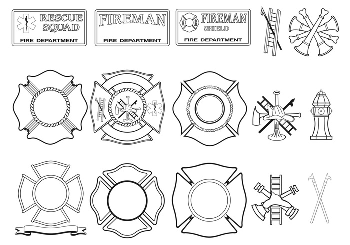 Fire Department Brushes Pack