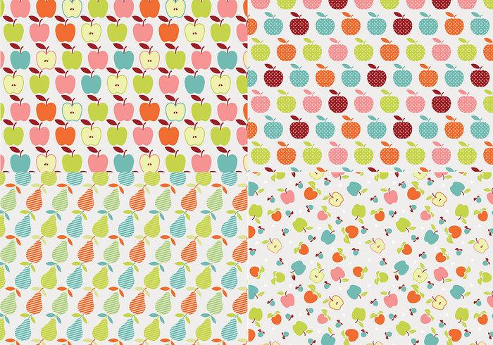 Retro Apple Patroon Pack