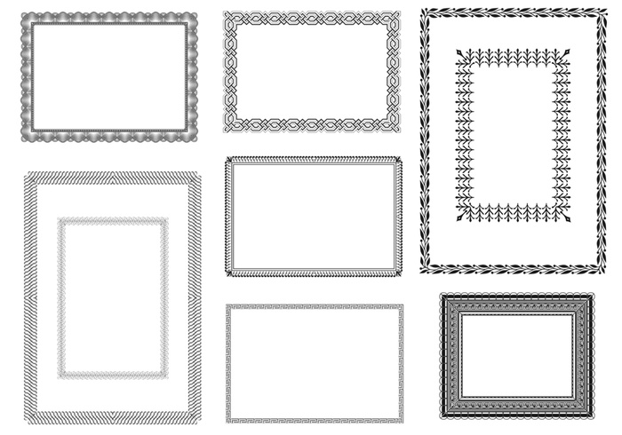 certificate brushes and frames pack free photoshop
