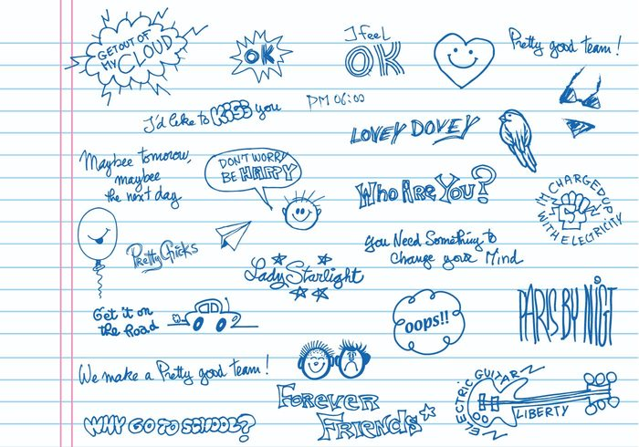 Handwritten Doodle Brushes Pack