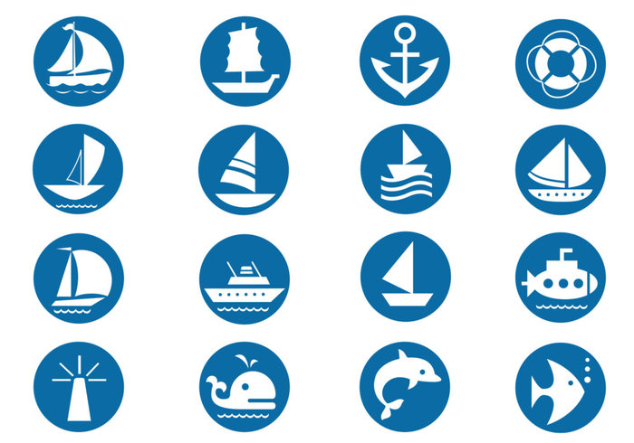 Nautical Brush Symbols Pack
