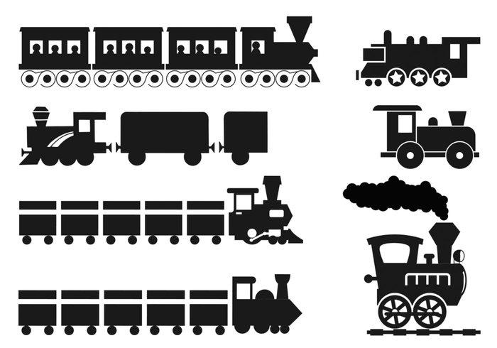Cartoon Train Brushes Pack
