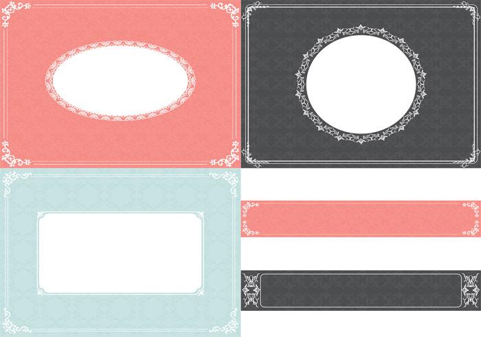 Vintage Ornament Hintergrund und Label Pack