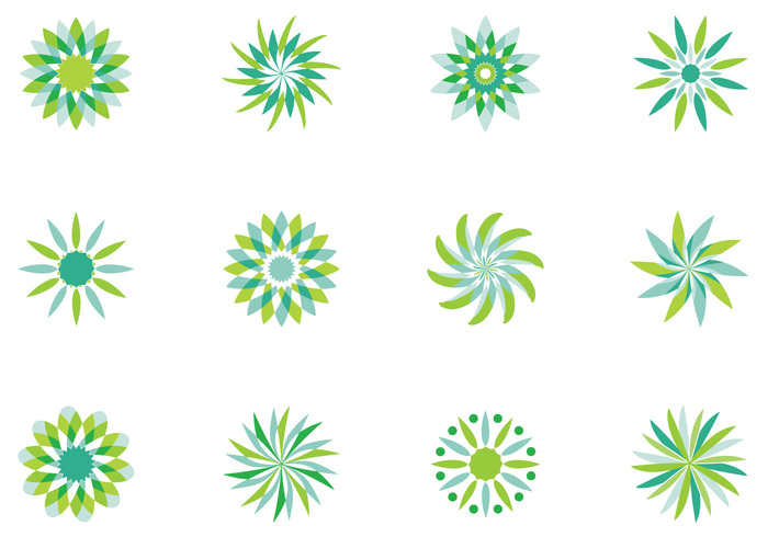 Abstract Floral Brushes Pack