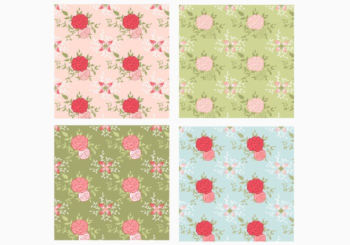 Seamless Rose Pattern Pack