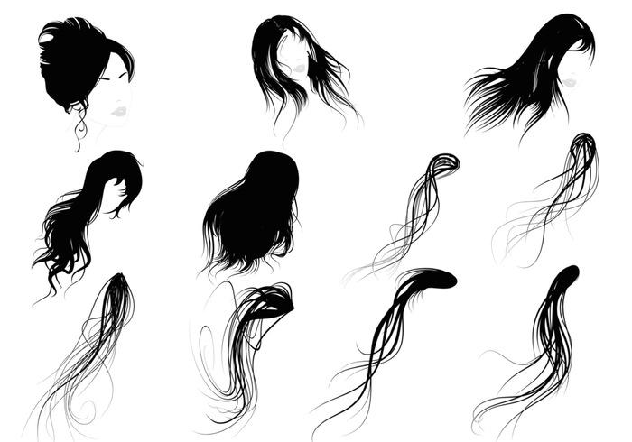 Female Hair Brushes Pack - Free Photoshop Brushes at ...