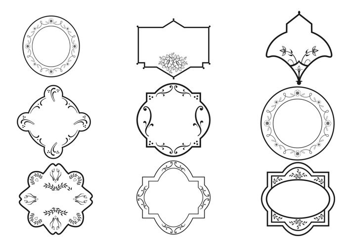 decorative frame brushes and ornament pack