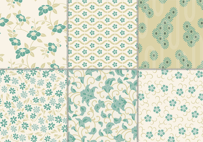 Dusty Teal Floral Background Pack