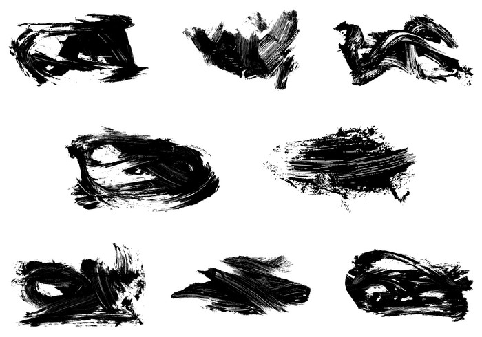 Grungy Dry Paint Brushes Pack