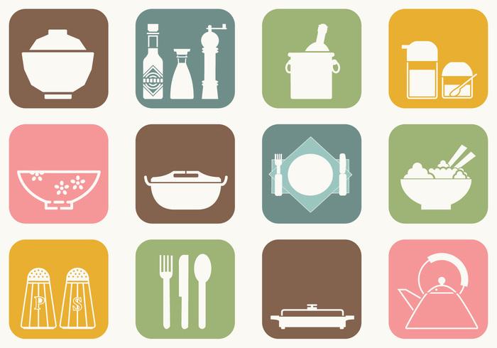 Dinner Table Brush Icons