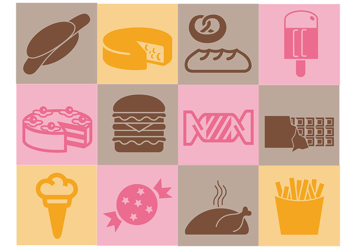 Various Food Brush Icons Pack