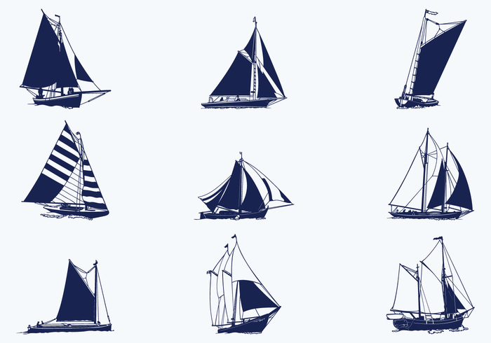 Vela Barcos Pinceles Paquete
