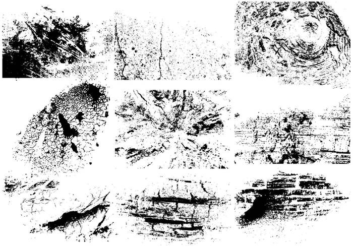 Cracked Grunge Brushes Pack