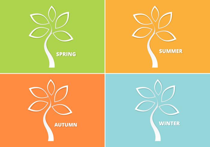 Cutout Seasonal Tree PSD Pack