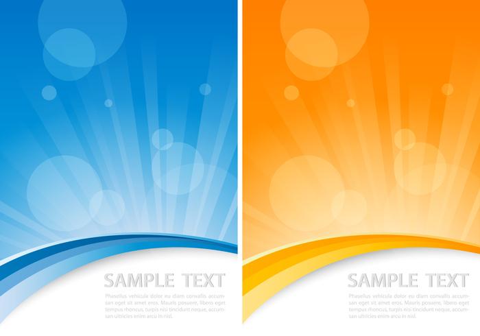 Orange and Blue Sunburst Background Pack
