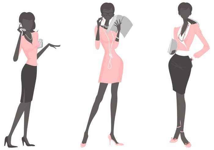 Business Woman Background Pack