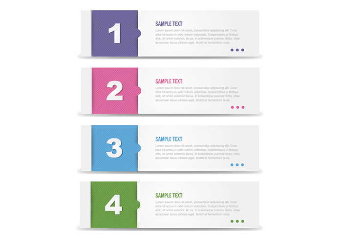 Modern Numbered Banner Template Pack