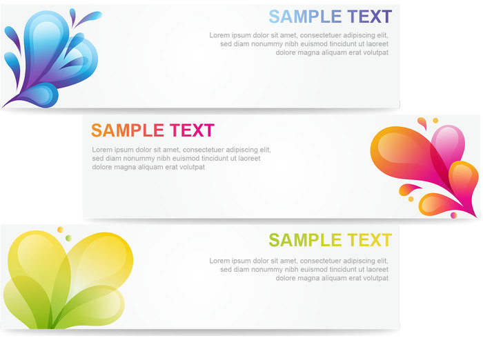Abstract Bubble Banner Template Pack