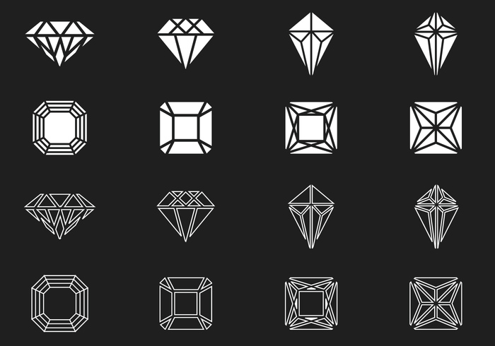 Drawing Vector Lines In Photo Cs : Diamond and gem brushes pack free photoshop at