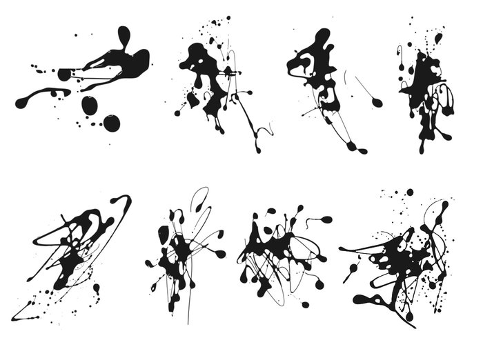 Ink Splatter Brushes Pack