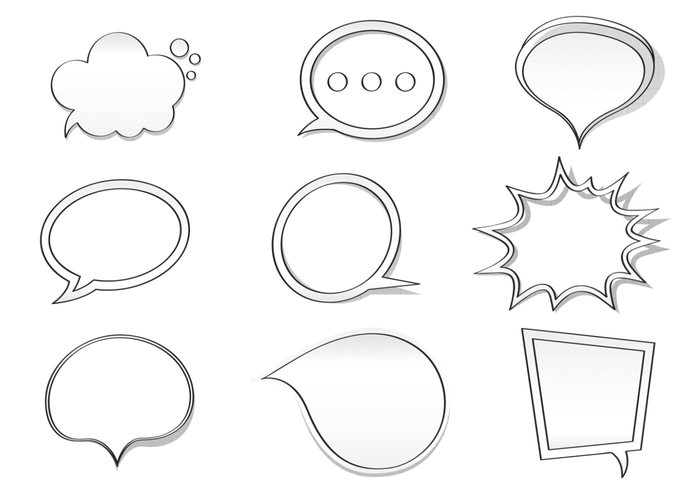 Hand Drawn Speech Bubble Brushes Pack