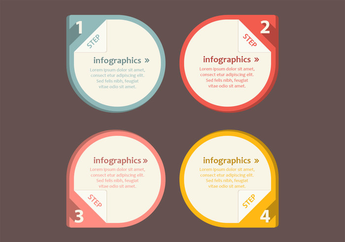Numbered Infographic Pointer PSD Pack - Free Photoshop Brushes at ...