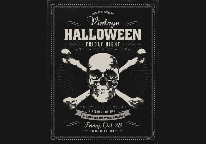Vintage Halloween Psd Poster Free Photoshop Brushes At