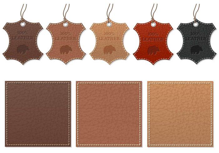 Paquet PSD pour étiquettes en cuir