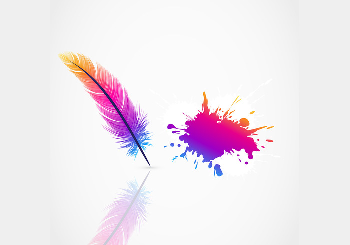 Bright Feather Background