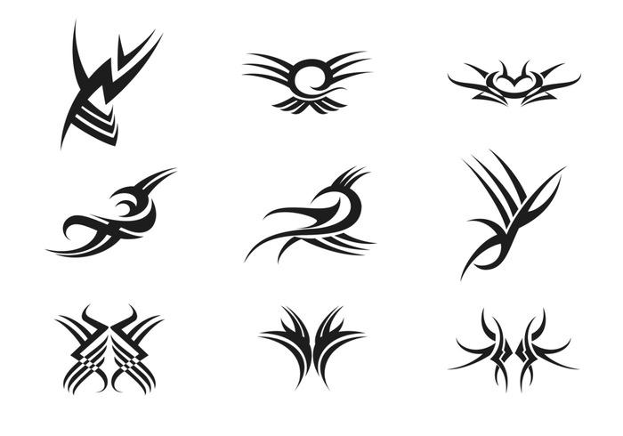 Paquete De Pinceles Tatuajes Tribales  &161Pinceles