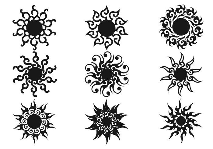 Decorative Sun Brushes Pack