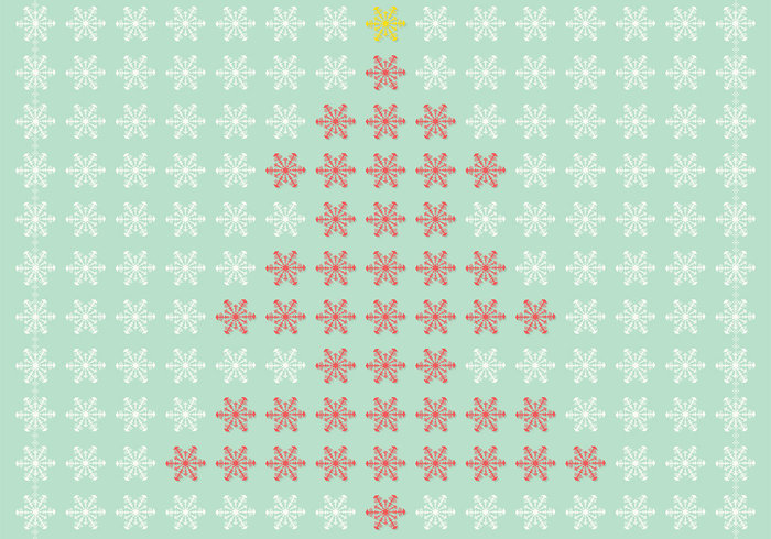 Snowflake Christmas Tree PSD and Snowflake Brush Pack