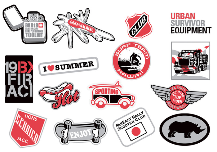 Urban Sticker PSD Pack