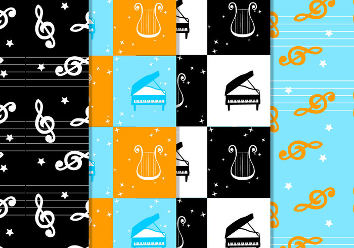 Checkered Musical Pattern Pack