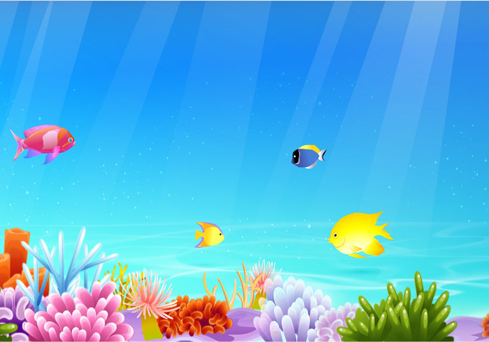 Sea Life Banner Background